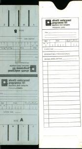 Cartolina magnetica Olivetti Programma 101