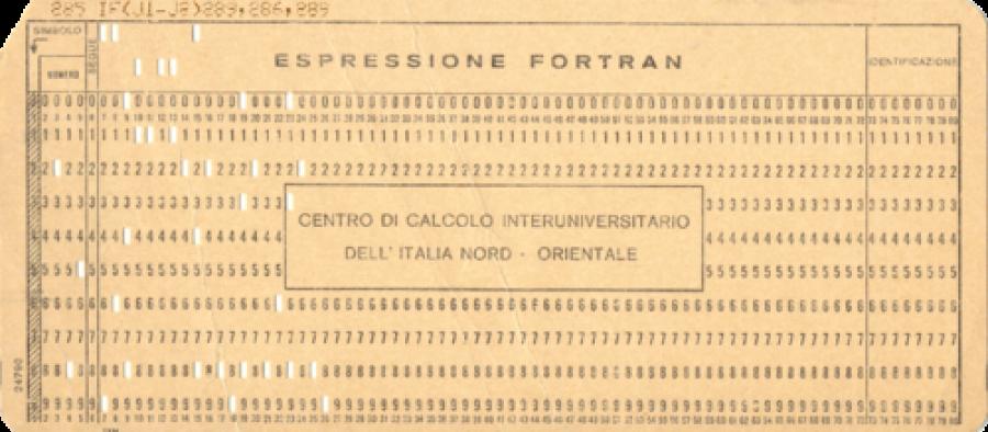 Scheda perforata IBM 80 colonne